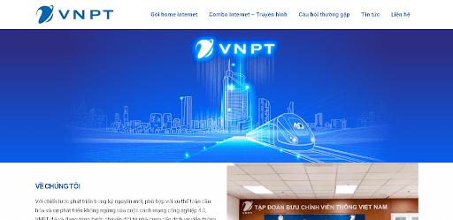Giao diện website nhà mạng VNPT.
