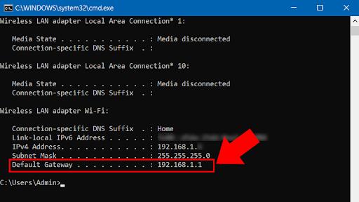 Copy dòng địa chỉ IP.